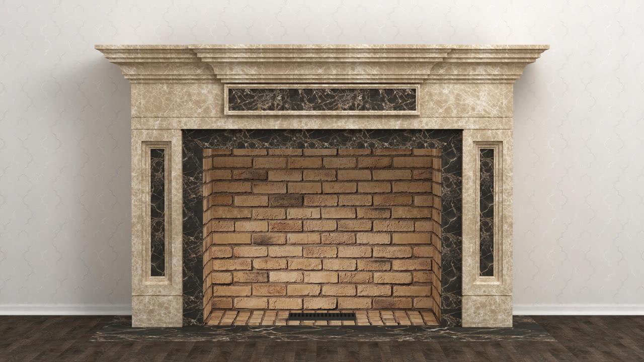 каминный портал KB-Tver3 из мрамора