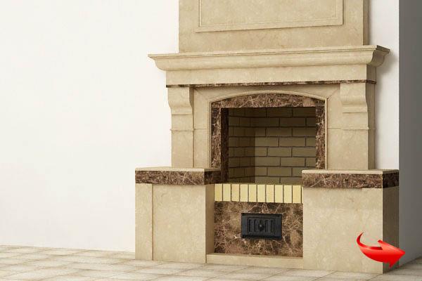 производство облицовки порталов для камина