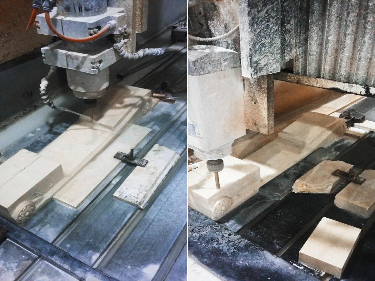 производство камина из мрамора