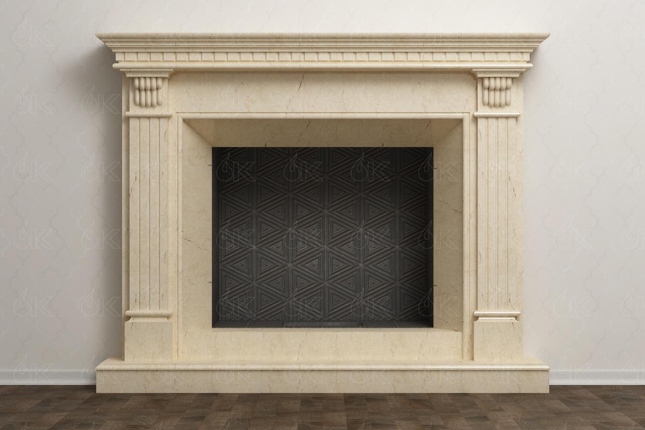 мраморная облицовка камина Адонис Adonis
